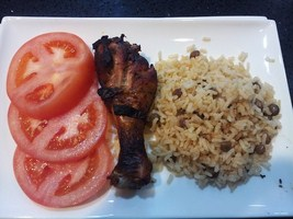 Stew Chicken rice